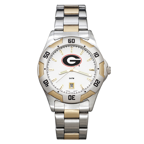 University of Georgia Men's All-Pro Two Tone Watch
