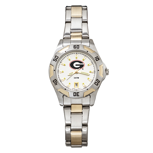 University of Georgia Women's All-Pro Two Tone Watch
