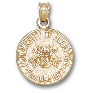 14kt Yellow Gold 5/8in University of Houston Seal Charm