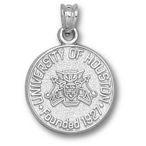 Sterling Silver 5/8in University of Houston Seal Charm