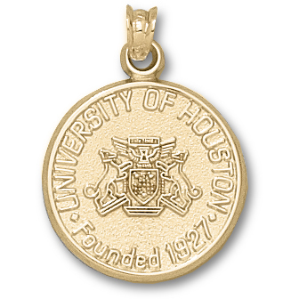 Houston Cougars 3/4in 10k Seal Pendant