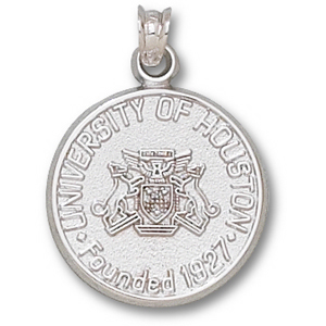 Sterling Silver 3/4in University of Houston Seal Pendant
