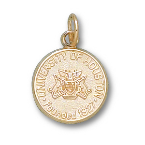 14kt Yellow Gold 1/2in University of Houston Seal Pendant