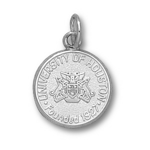Sterling Silver 1/2in University of Houston Seal Pendant