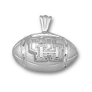 Houston Cougars 7/16in Sterling Silver Football Pendant