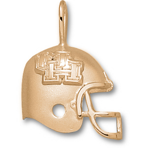Houston Cougars 3/4in 14k Helmet Pendant