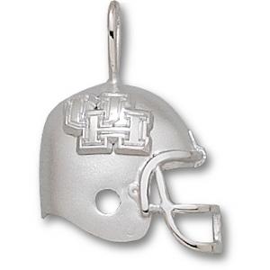 Sterling Silver 3/4in University of Houston Helmet Pendant