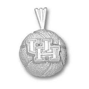 Sterling Silver 1/2in University of Houston Basketball Pendant