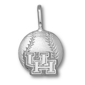 Sterling Silver 1/2in University of Houston Baseball Pendant