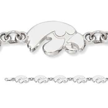 Sterling Silver University of Iowa Bracelet