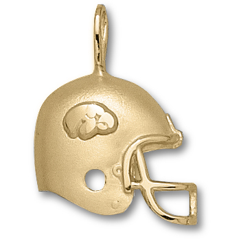 Iowa Hawkeyes 3/4in 14k Helmet Pendant