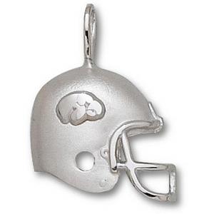 Iowa Hawkeyes 3/4in Sterling Silver Helmet Pendant
