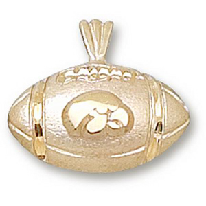 Iowa Hawkeyes 1/2in 10k Football Pendant