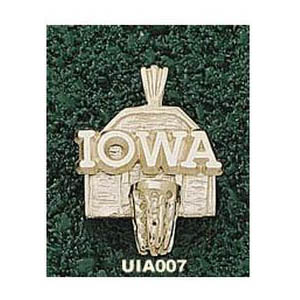 Iowa Hawkeyes 5/8in 14k Backboard Pendant