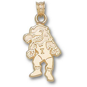 Iowa Hawkeyes 3/4in 14k Herky Wrestler Pendant