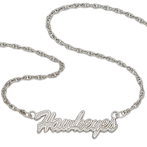 University of Iowa 18in Sterling Silver Script Necklace
