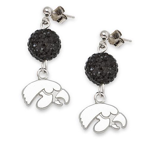 University of Iowa Crystal Ovation Earrings