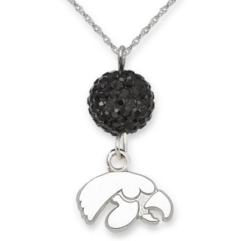 University of Iowa Crystal Ovation Necklace