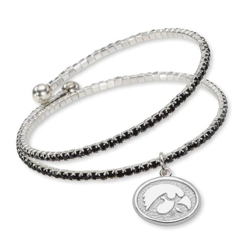 University of Iowa Amped Logo Crystal Bracelet
