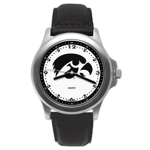 University of Iowa Rookie Leather Watch