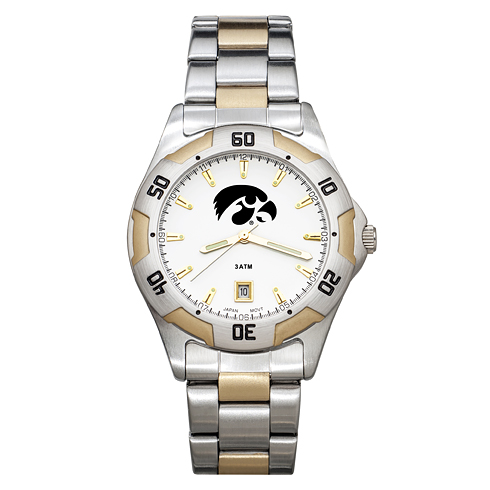 University of Iowa Men's All-Pro Two Tone Watch