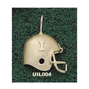 Illinois Fighting Illini 3/4in 14k Helmet Pendant