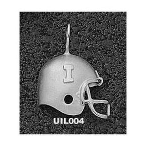 Illinois Fighting Illini 3/4in Sterling Silver Helmet Pendant