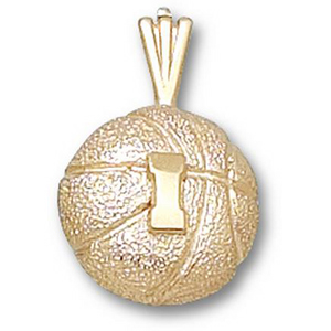 Illinois Fighting Illini 1/2in 14k Basketball Pendant