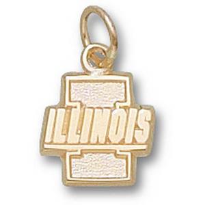 Illinois Fighting Illini 3/8in 14k Pendant