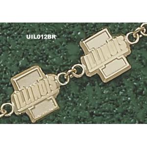 Illinois Fighting Illini 7.5in 14k I Bracelet