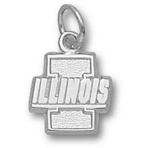 Illinois Fighting Illini 3/8in Sterling Silver Pendant