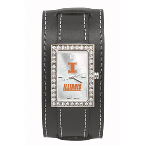 University of Illinois Wide Starlette Leather Watch