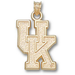 14kt Yellow Gold 7/8in University of Kentucky UK Pendant