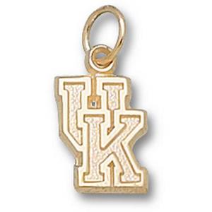 14kt Yellow Gold 1/2in University of Kentucky UK Pendant