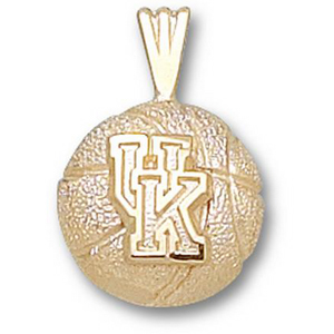 Kentucky Wildcats 1/2in 10k Basketball Pendant