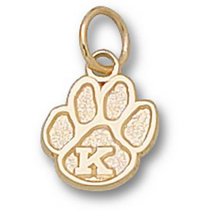 10kt Yellow Gold 3/8in Kentucky Wildcats Paw Charm