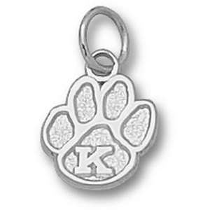 Sterling Silver 3/8in Kentucky Wildcats Paw Pendant