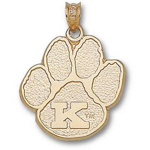 Kentucky Wildcats 3/4in 10k Paw Pendant