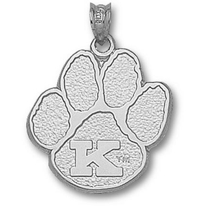 Kentucky Wildcats 3/4in Sterling Silver Paw Pendant