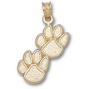 Kentucky Wildcats 1in 14k Double Paw Pendant