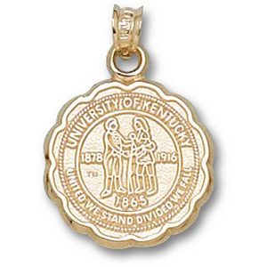 Kentucky Wildcats 5/8in 14k Seal Pendant