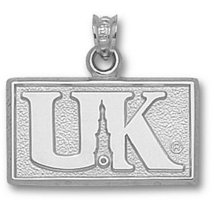 Kentucky Wildcats 1/2in Sterling Silver Tower Logo Pendant