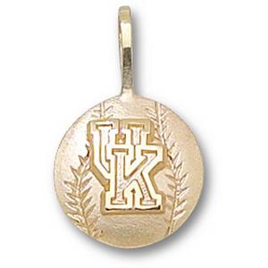 Kentucky Wildcats 1/2in 14k Baseball Pendant