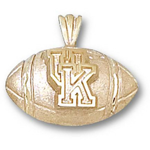 Kentucky Wildcats 1/2in 10k Football Pendant