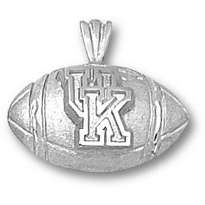 Kentucky Wildcats 1/2in Sterling Silver Football Pendant
