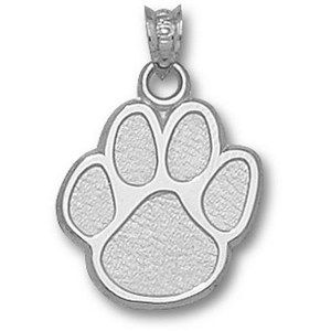 Kentucky Wildcats 5/8in Sterling Silver Paw Pendant