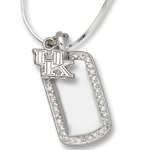 Sterling Silver University of Kentucky Mini Dog Tag Necklace