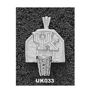 Kentucky Wildcats 5/8in Sterling Silver UK Backboard Pendant