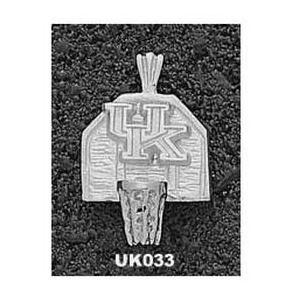 Kentucky Wildcats 5/8in Sterling Silver UK Backboard Pendant