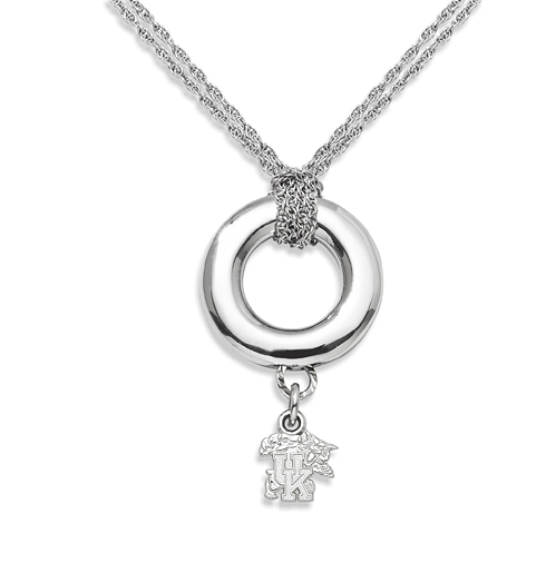 Sterling Silver 16in University of Kentucky Halo Necklace